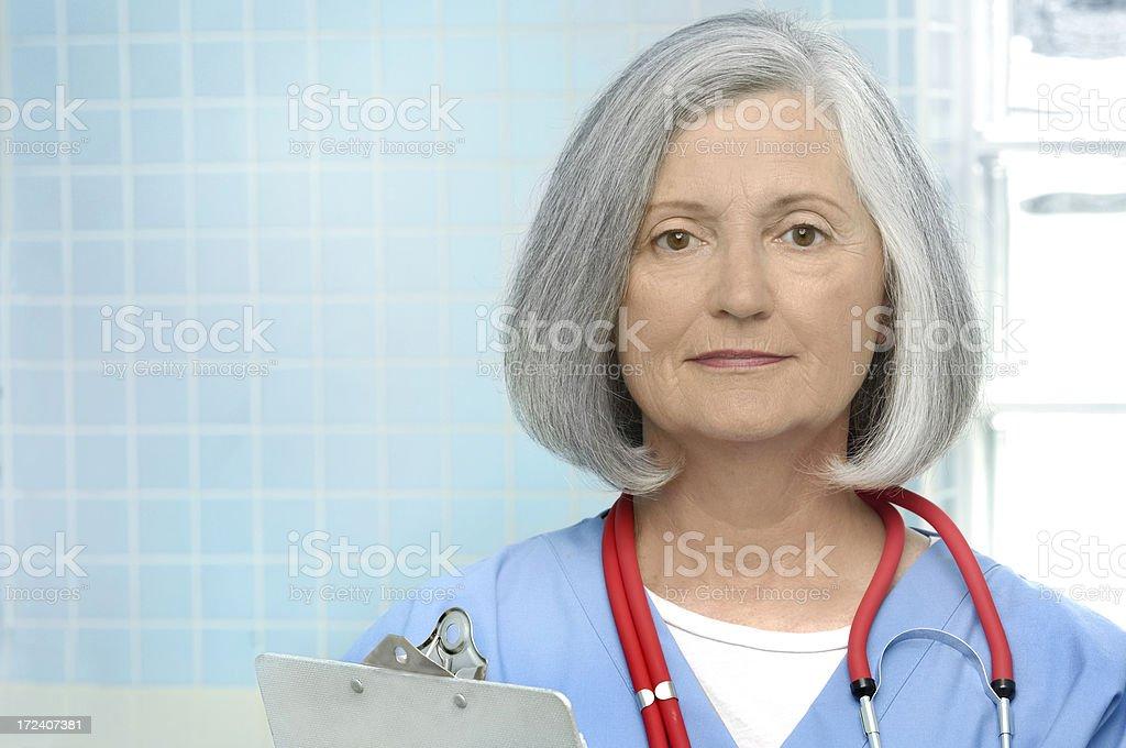 female senior doctor royalty-free stock photo