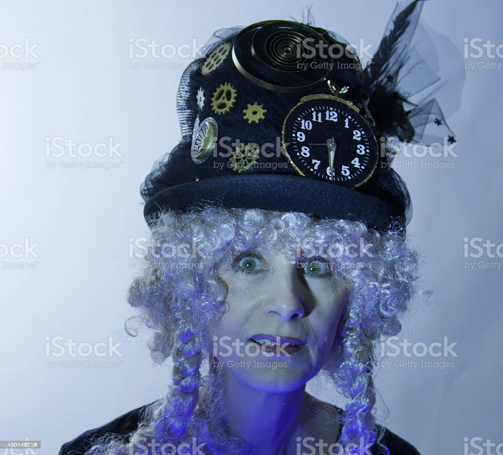 Female Senior In Ultra Violet royalty-free stock photo