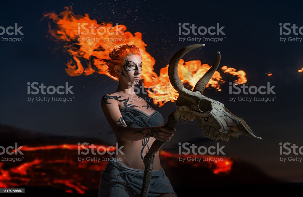 Female shaman stock photo