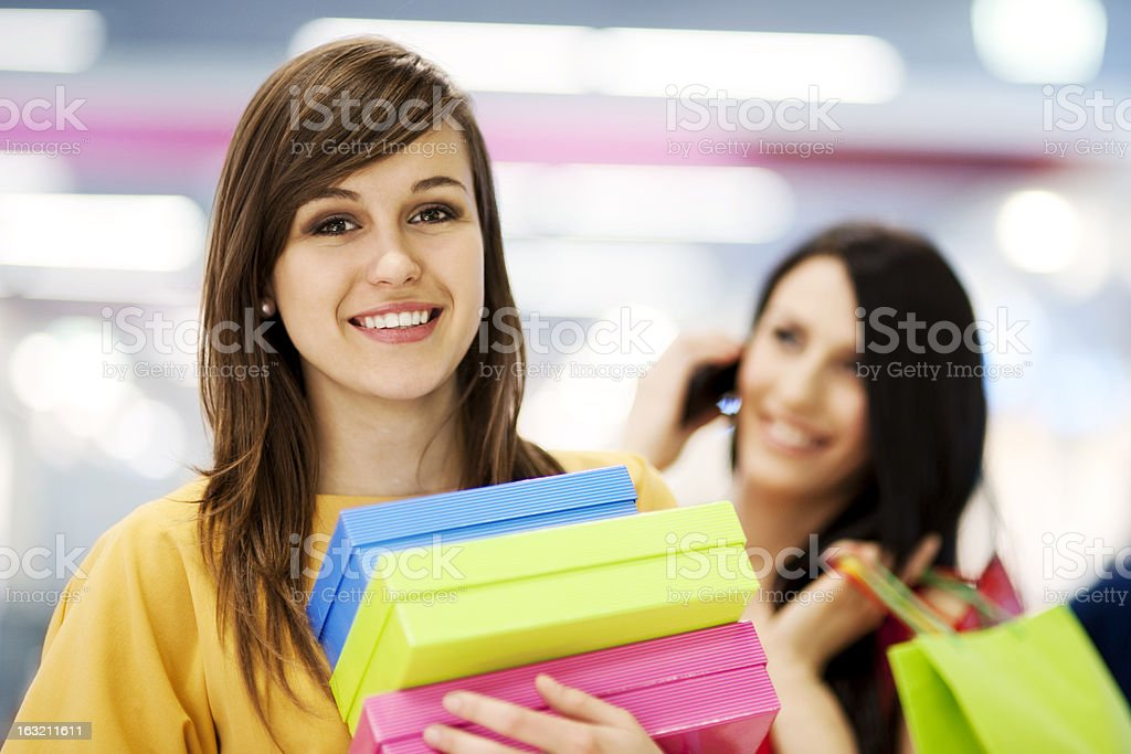 Female shoppers royalty-free stock photo