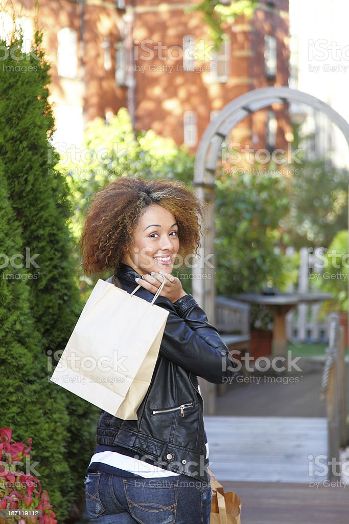 female shopping royalty-free stock photo