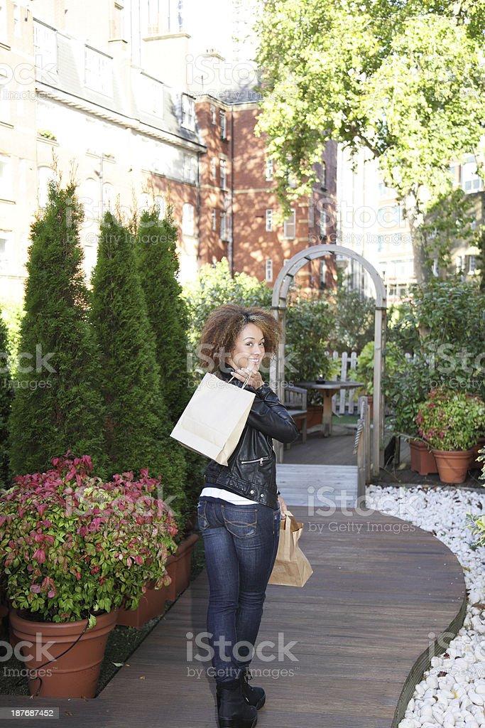 female shopping royalty-free stock photo