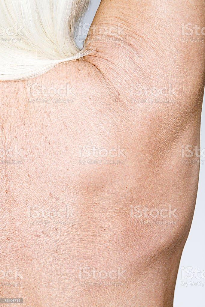 Female shoulder stock photo