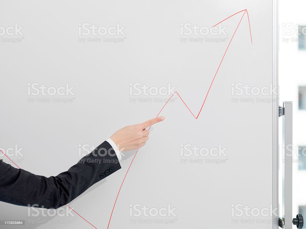 Female showing the process of growth. royalty-free stock photo