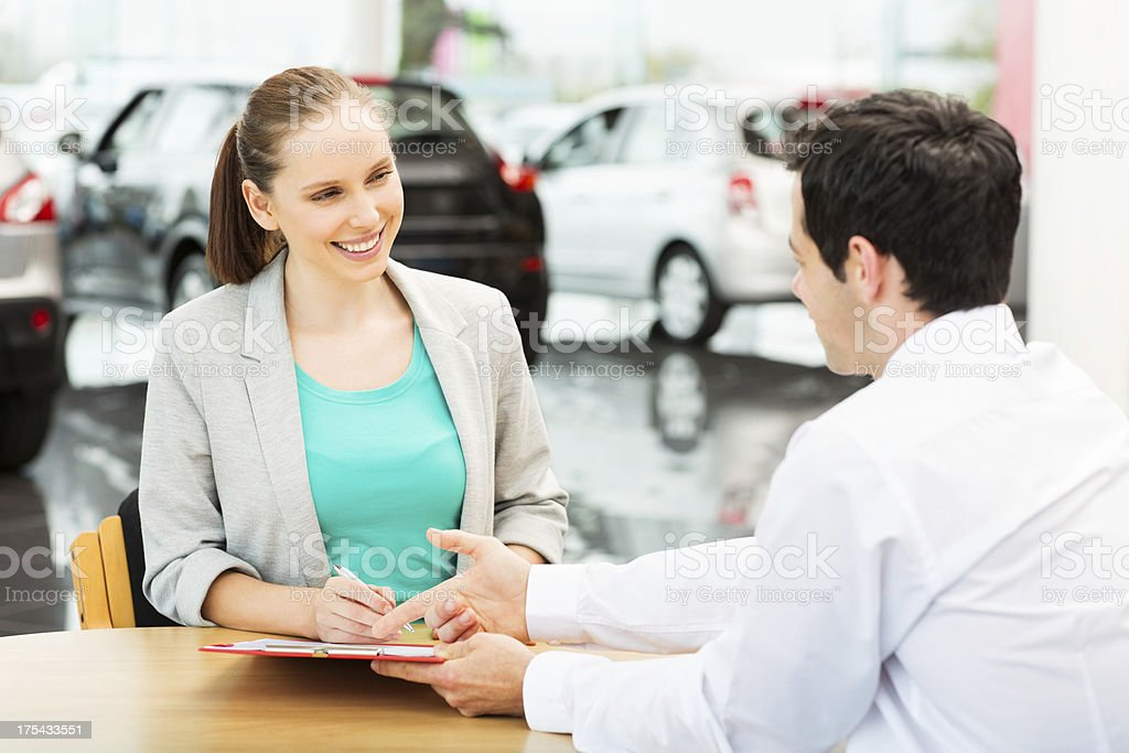 Female Signing Document royalty-free stock photo