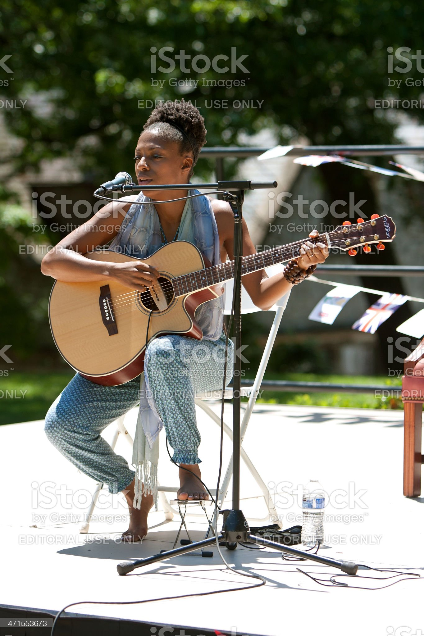 Female Singer Performs At Spring Festival royalty-free stock photo