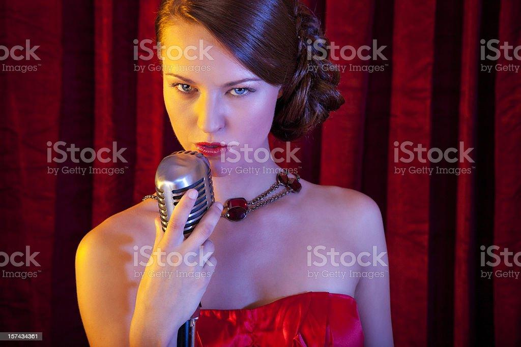 Female Singer royalty-free stock photo