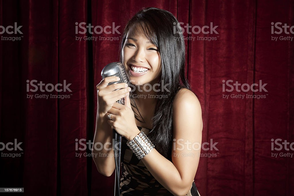 Female Singer royalty-free stock photo