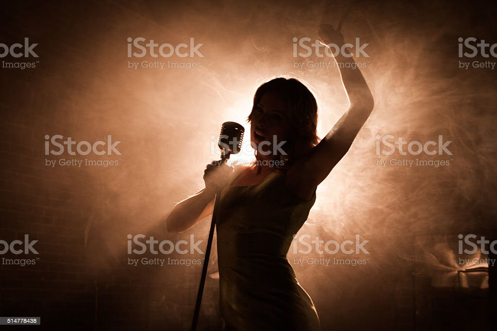 Female singer stock photo