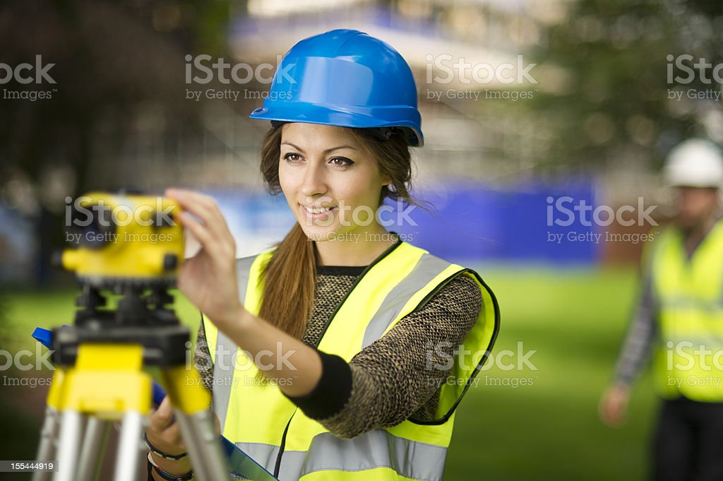 female site engineer royalty-free stock photo