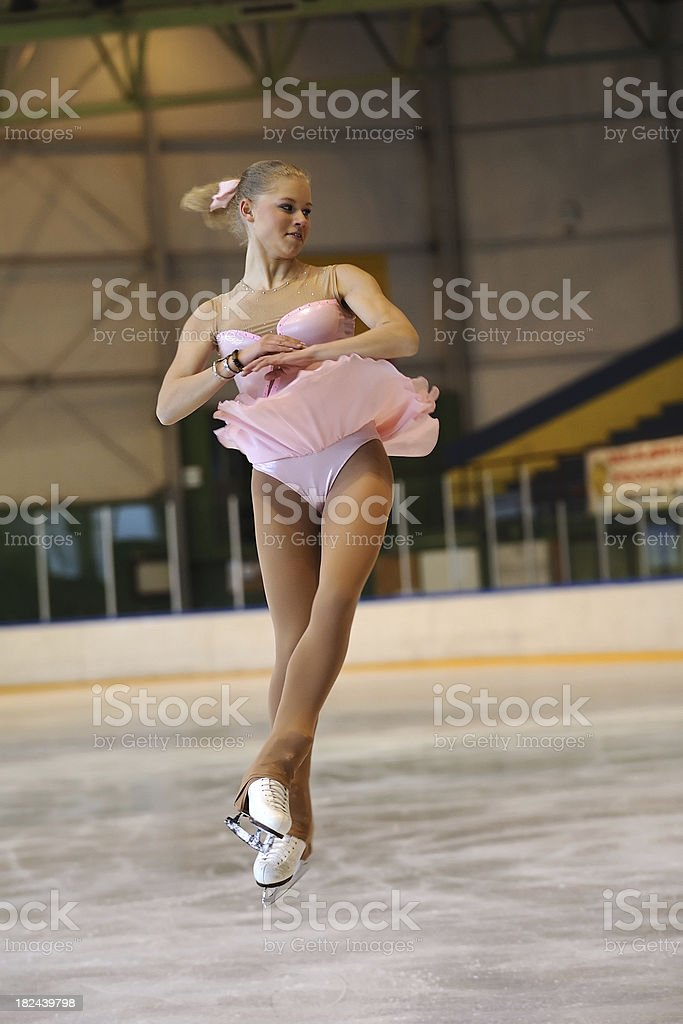 Female skater in mid-air royalty-free stock photo