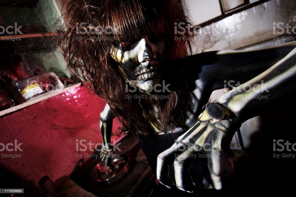 Female Skeleton Chef royalty-free stock photo