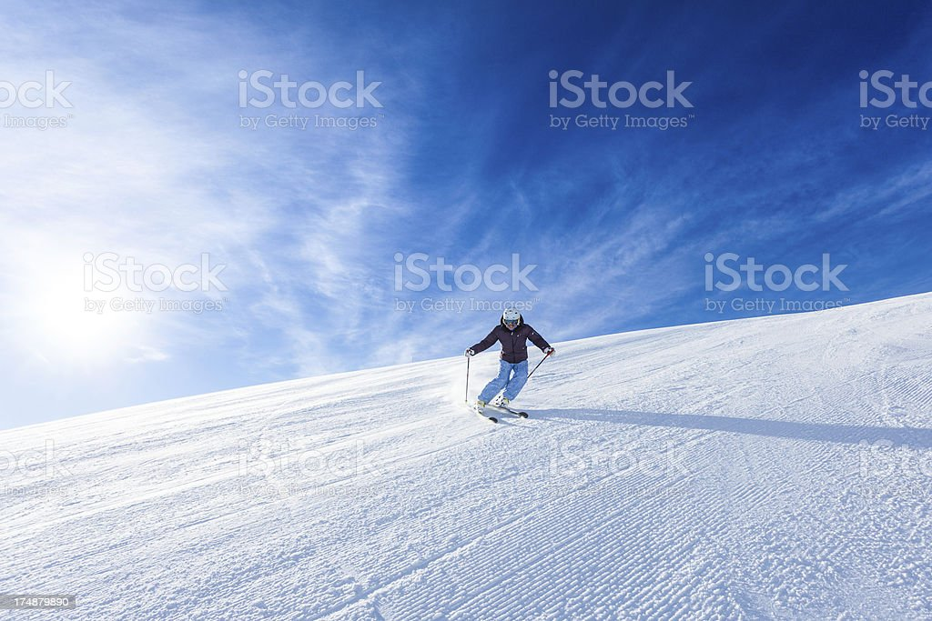 Female Skier during a Sunny Day royalty-free stock photo