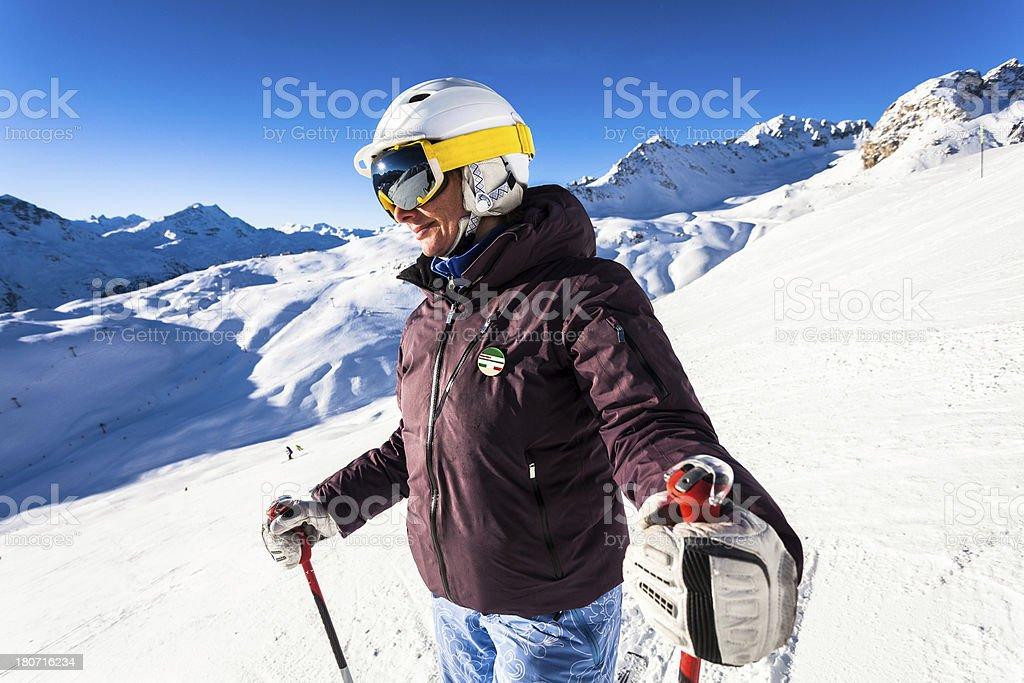 Female Skier Portrait royalty-free stock photo