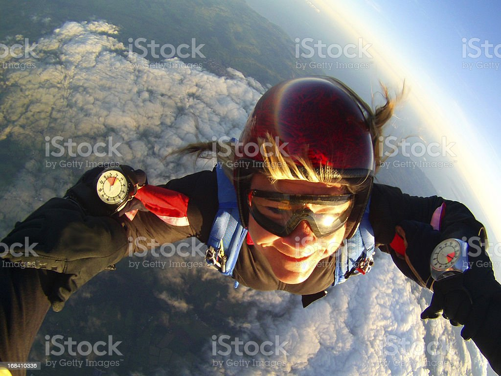 Female Skydiver stock photo