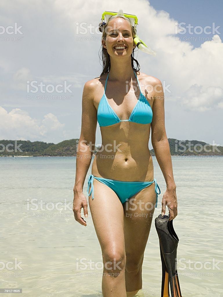 Female snorkeler royalty-free stock photo