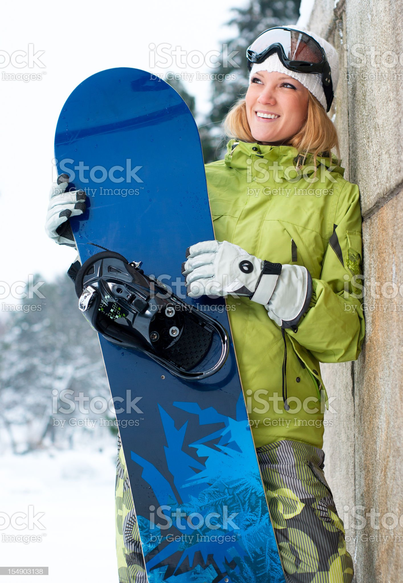 Female snowboarder royalty-free stock photo