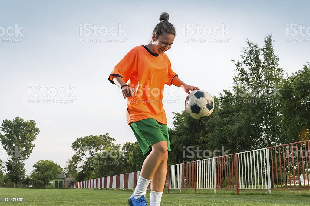 female soccer stock photo