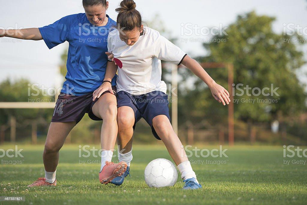 female soccer stock photo