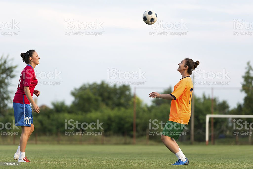 female soccer royalty-free stock photo