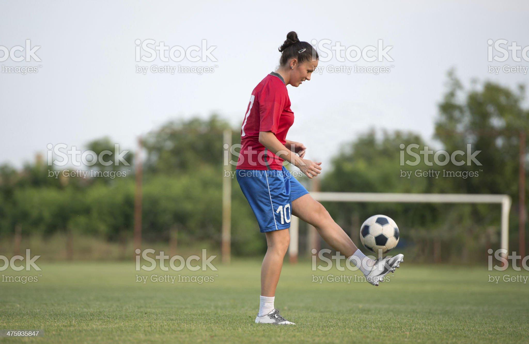 female soccer royalty-free stock photo