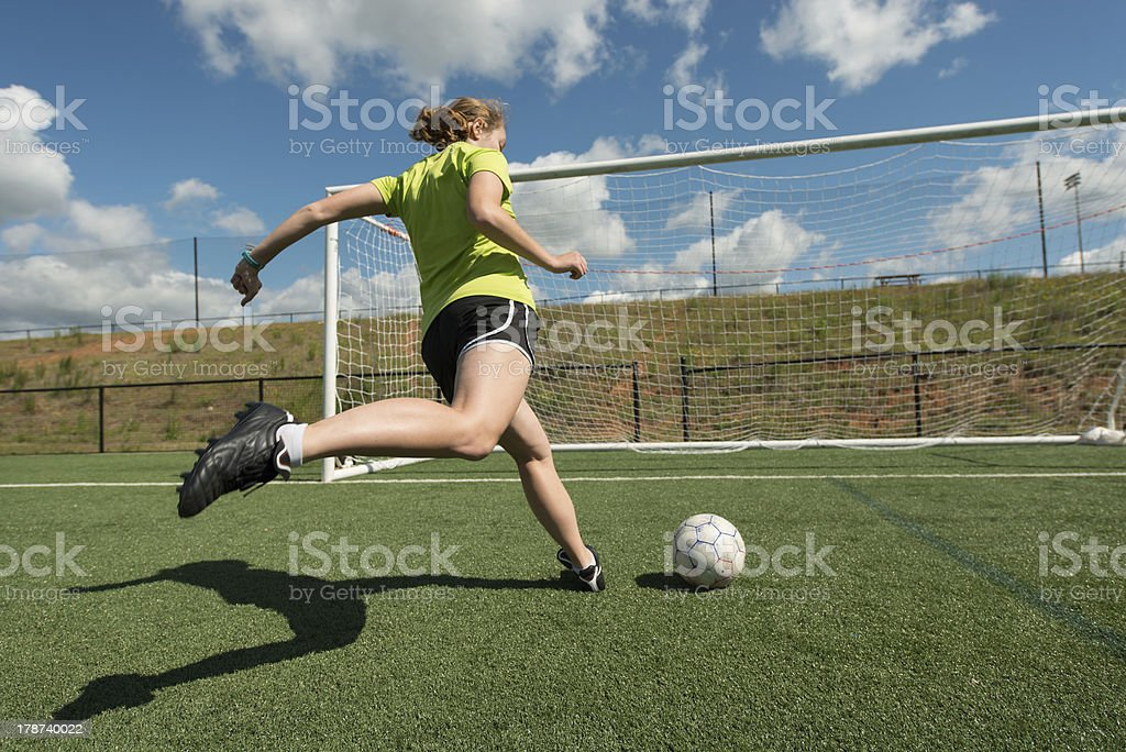 Female soccer player stock photo