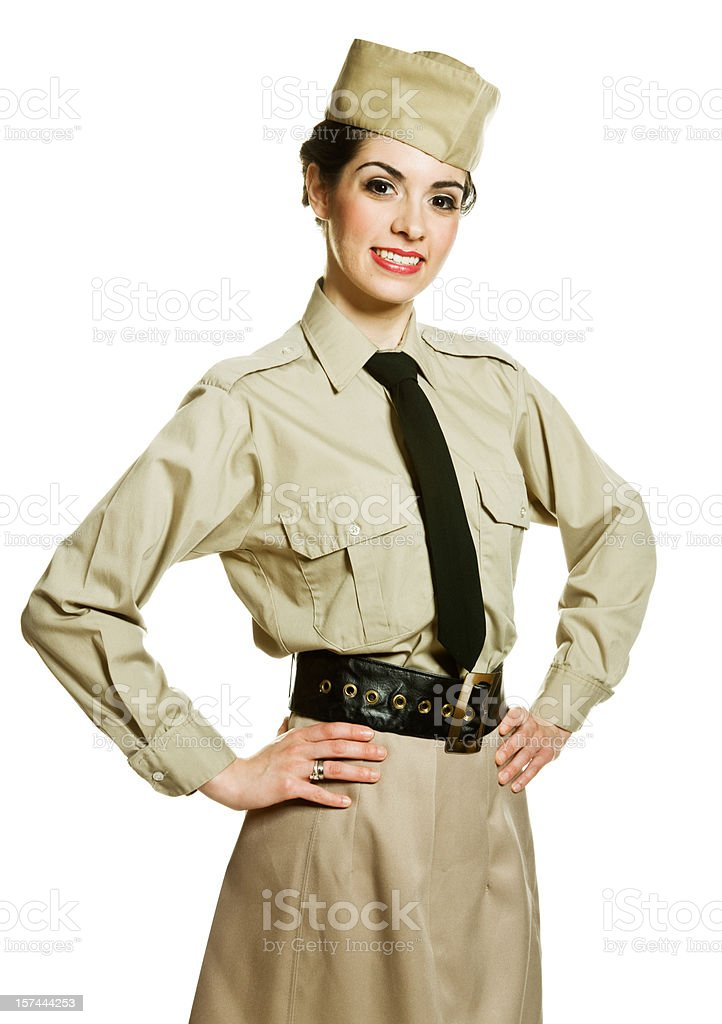 Female soldier royalty-free stock photo