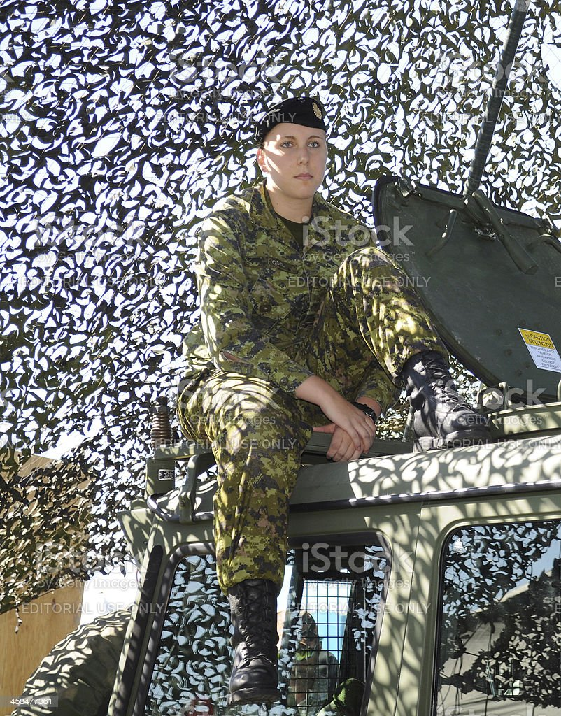 Female Soldier (Canadian Armed Forces) stock photo