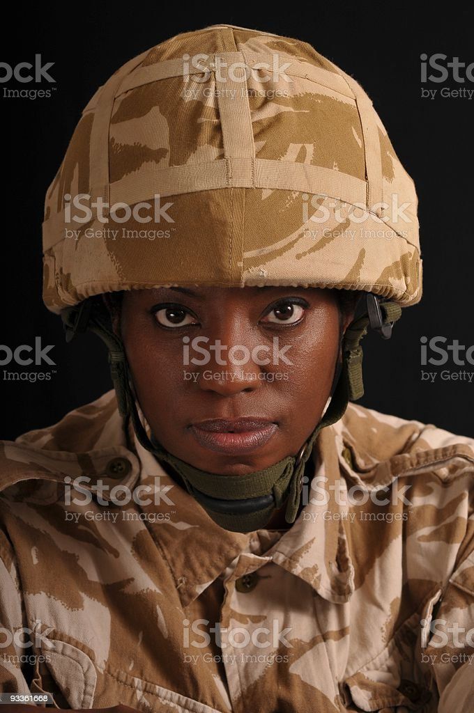 Female Soldier Portrait stock photo
