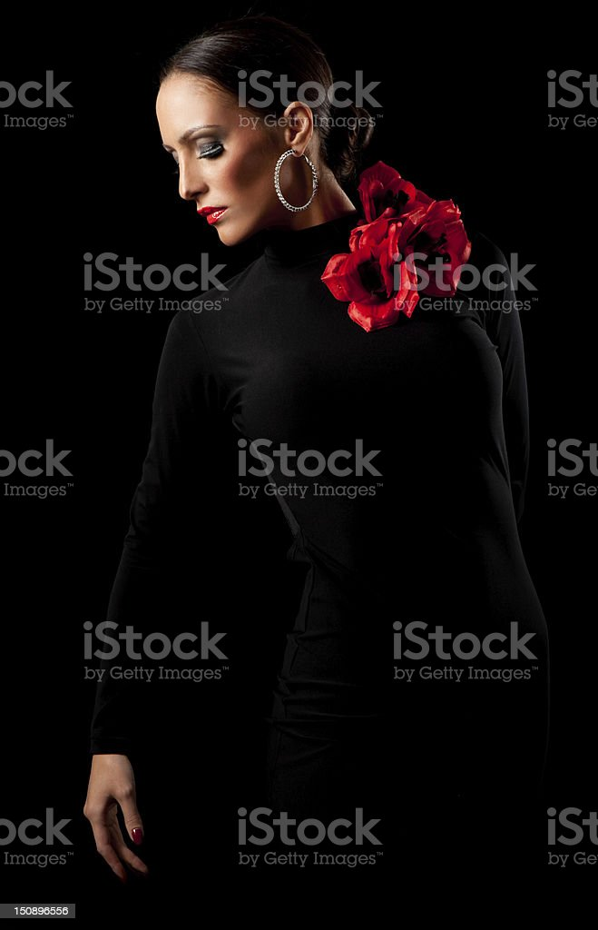 Female spanish dancer stock photo