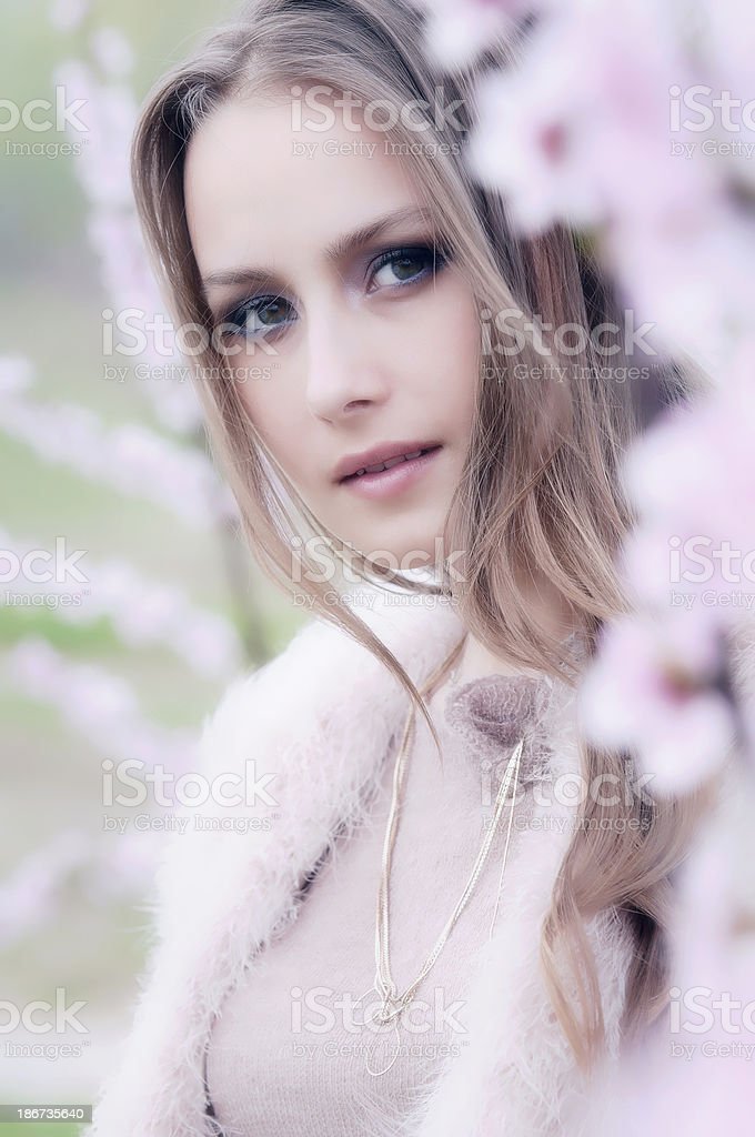 female spring portrait royalty-free stock photo