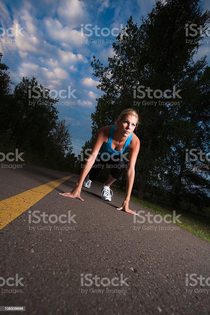 Female sprinter royalty-free stock photo