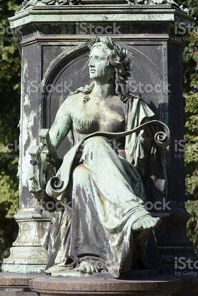 Female stone statue royalty-free stock photo