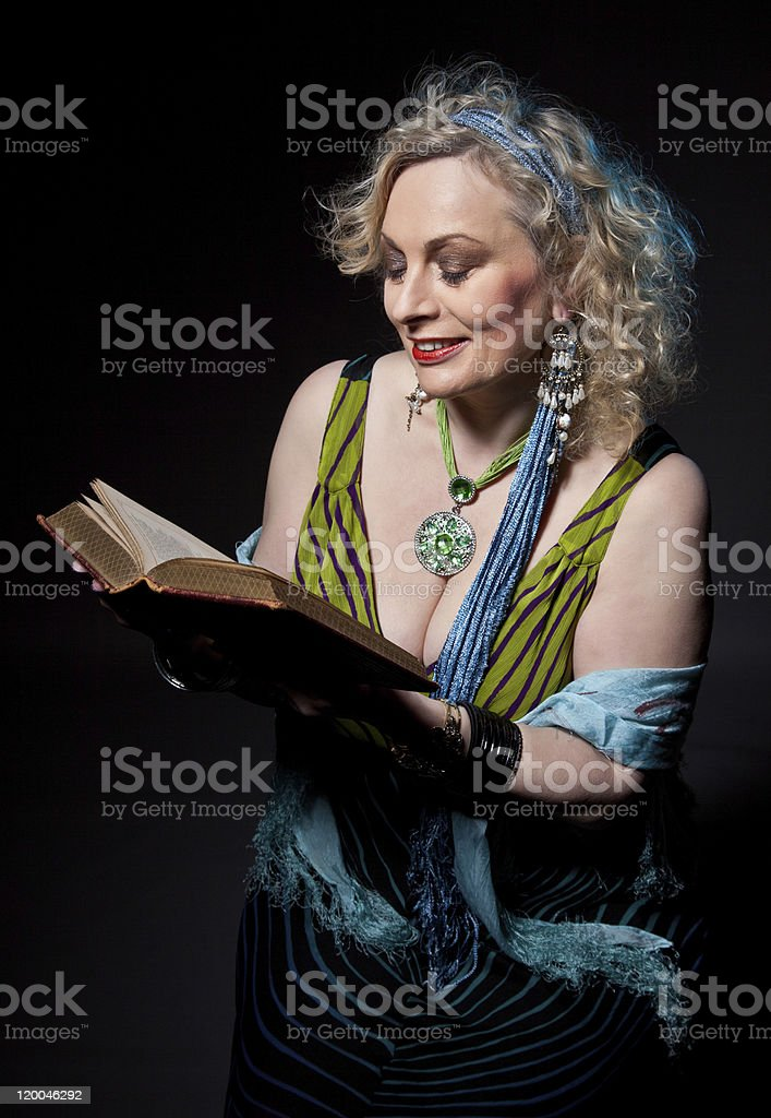 Female Storyteller (mature) stock photo