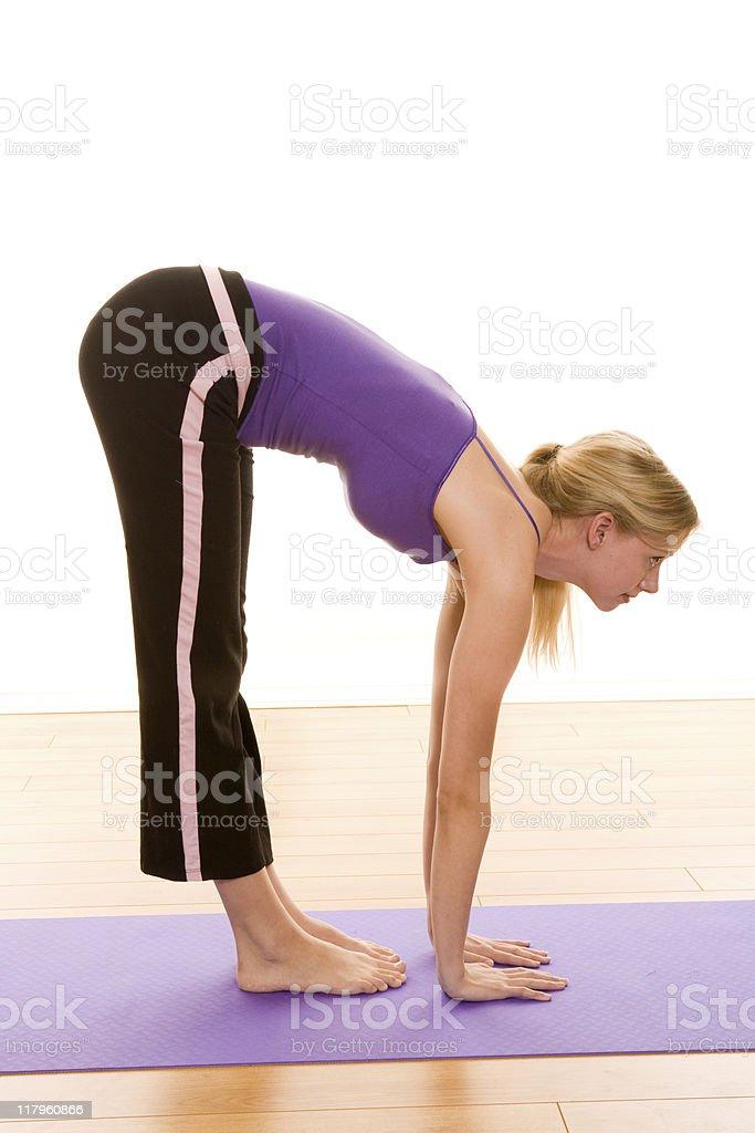 Female stretching royalty-free stock photo