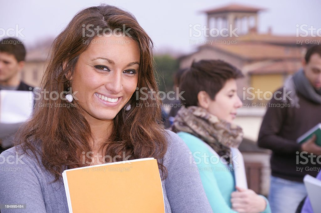Female Student Portrait Outdoors royalty-free stock photo