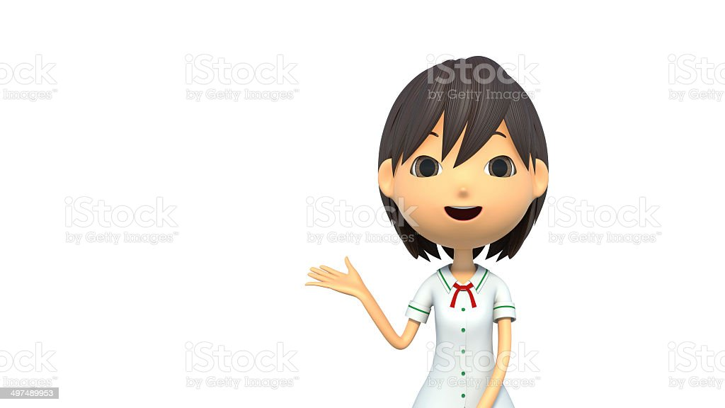 Female student to commentary royalty-free stock photo