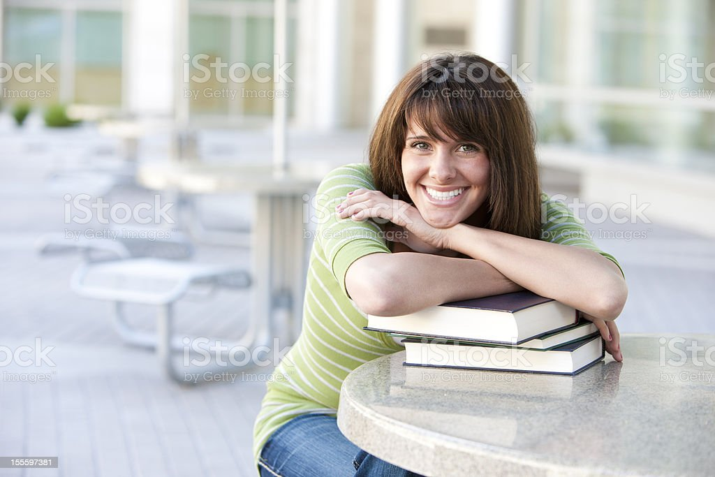 Female Student With Books royalty-free stock photo