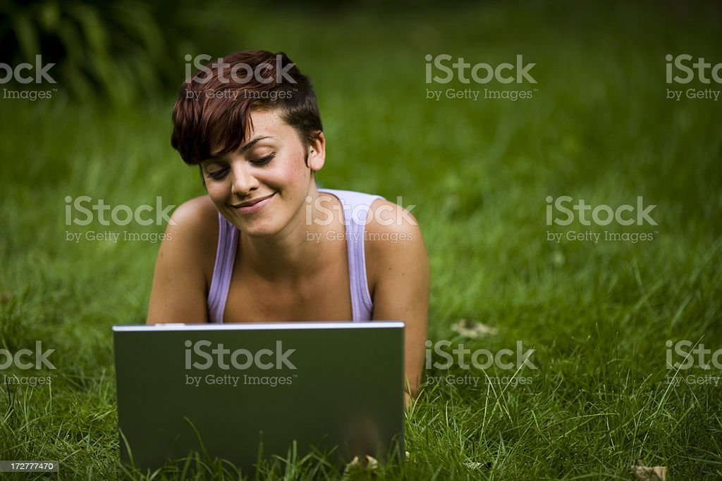 Female Student with Laptop royalty-free stock photo
