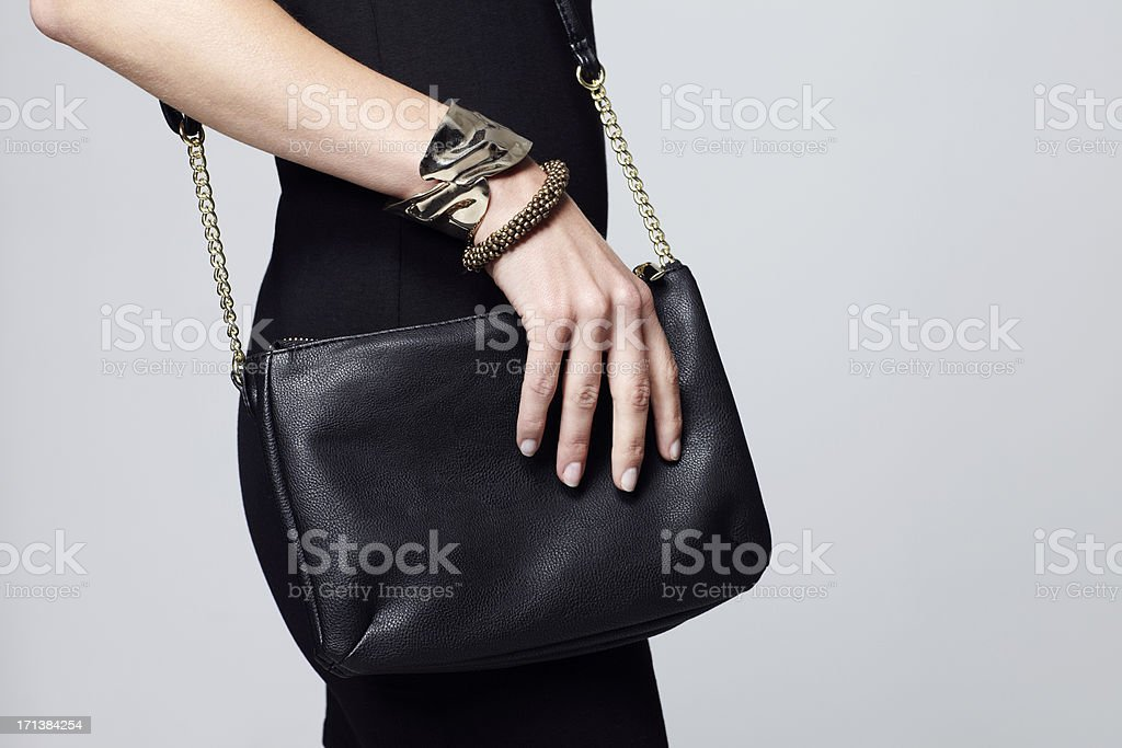 Female styling with accessories stock photo
