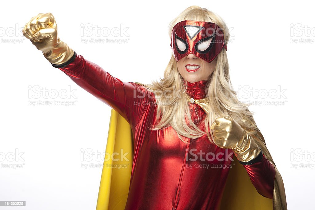 Female Superhero stock photo