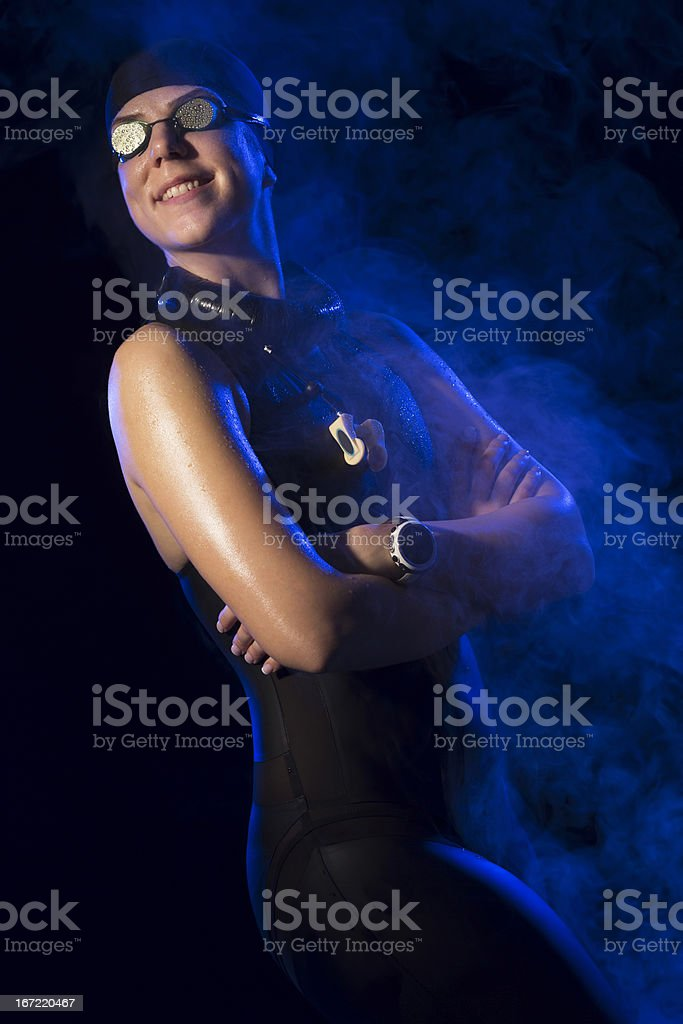 Female Swimmer royalty-free stock photo