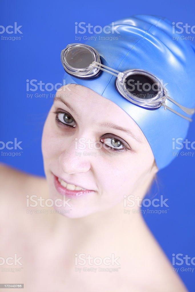 Female swimmer royalty-free stock photo