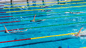 Female swimmer swimming