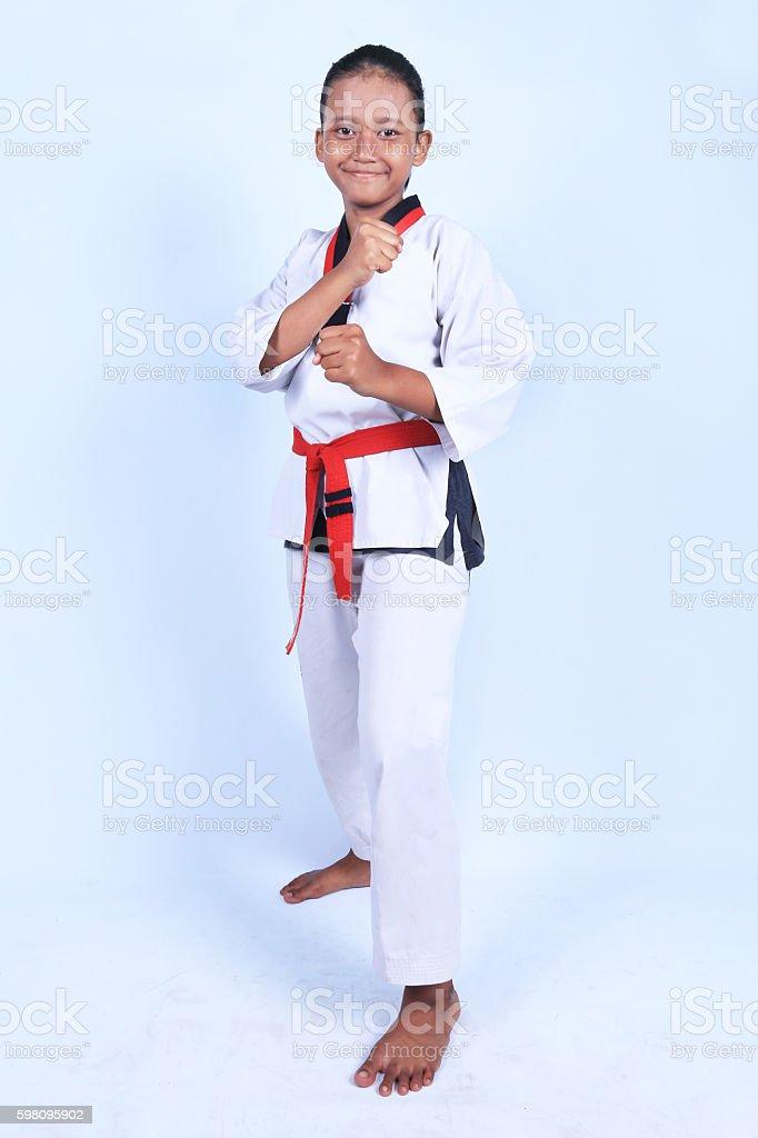 Female Taekwondo Athlete stock photo