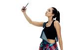 Female taking a selfie