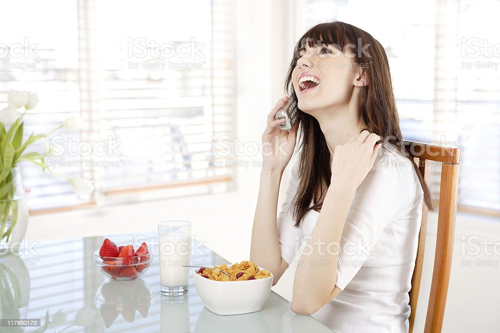 Female talking on the phone royalty-free stock photo
