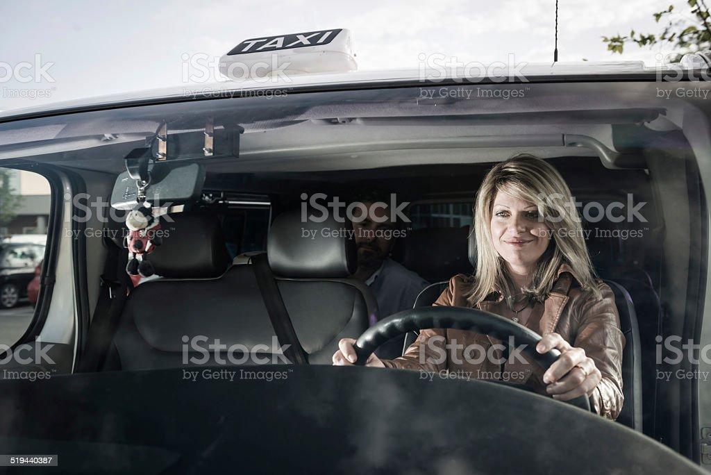 Female Taxi Driver stock photo
