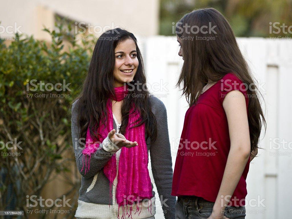 Female Teens hanging around royalty-free stock photo