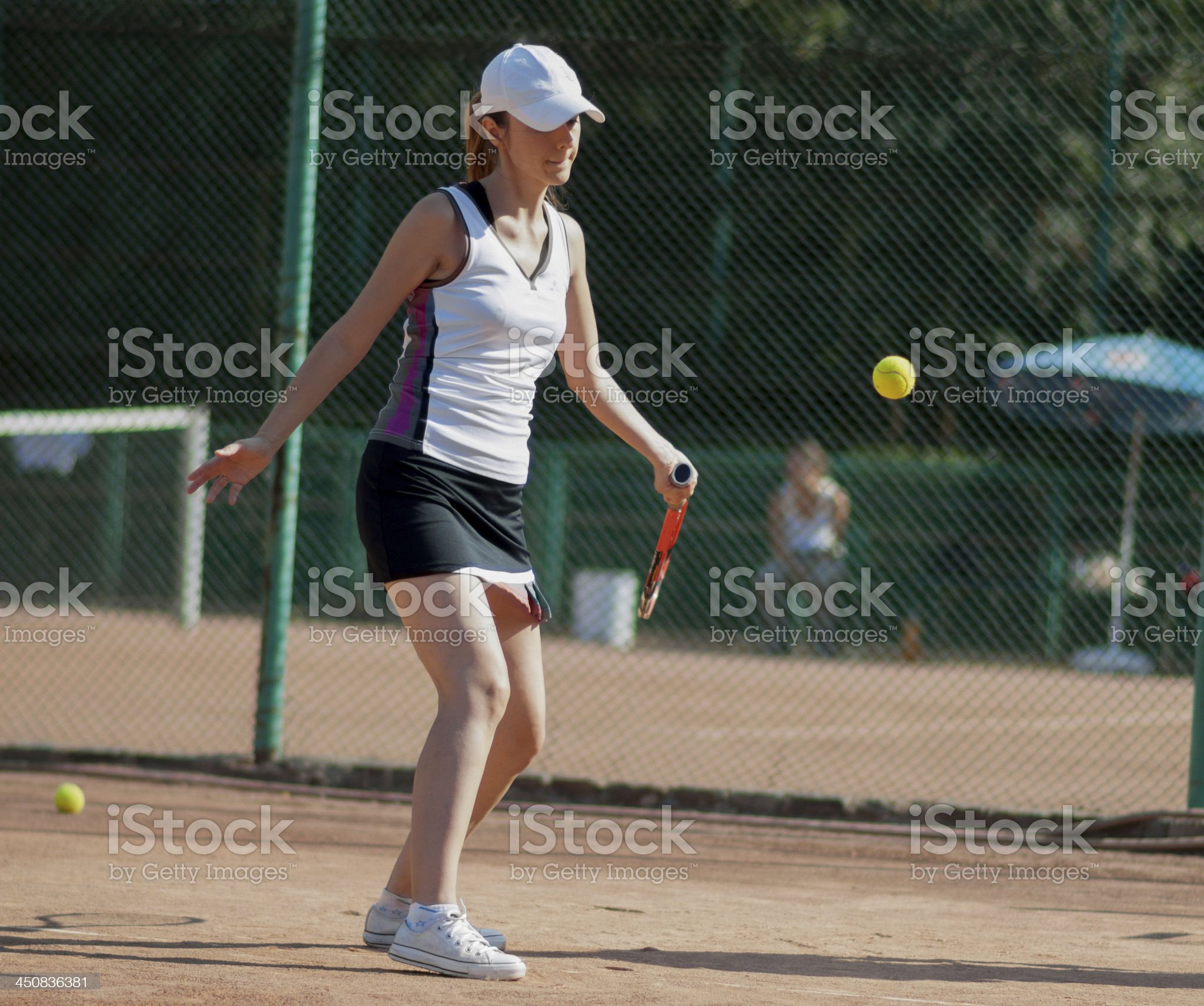 female tennis player royalty-free stock photo